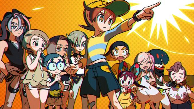 """Das Bild zeigt eine Reihe von Charakteren aus """"World's End Club""""."""