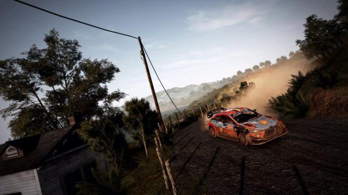 """Das Bild zeigt eine weitere Kurve in """"WRC 9""""."""