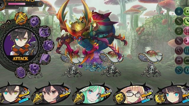 """Das Bild zeigt einen Kampf aus """"Demon Gaze EXTRA""""."""