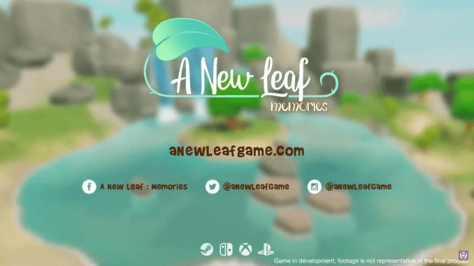 """Das Bild zeigt das Logo von """"A New Leaf: Memories""""."""