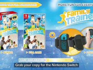 """Das Bild zeigt das Logo und die Verpackung von """"Family Trainer""""."""