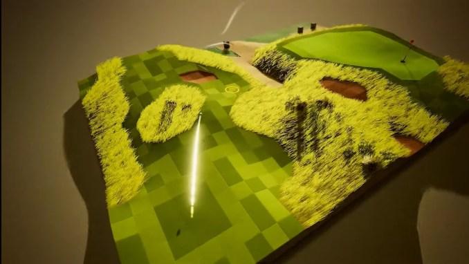 """Das Bild zeigt eine Szene aus """"A Little Golf Story""""."""