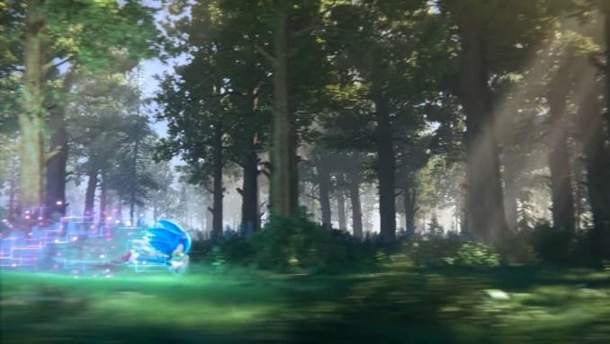 """Das Bild zeigt den rennenden blauen Igel in """"Sonic Rangers""""."""