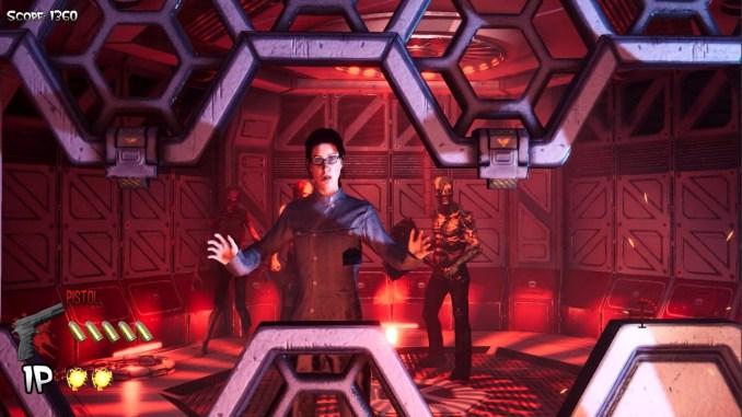 """Das Bild zeigt eine Szene aus dem Spiel """"The House of the Dead: Remake""""."""