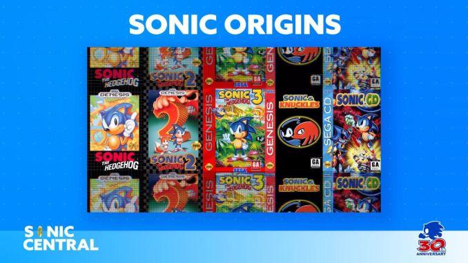 """Das Bild zeigt alle Titel, welche in """"Sonic Origins"""" enthalten sind."""
