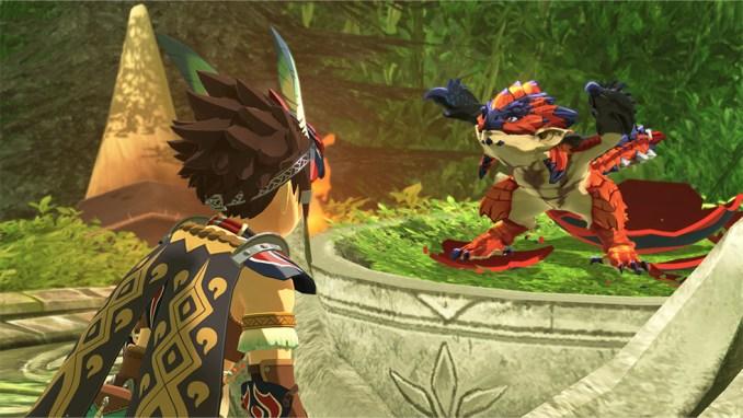 """Das Bild zeigt den Protagonisten und den legendären Rathalos in """"Monster Hunter Stories 2: Wings of Ruin""""."""