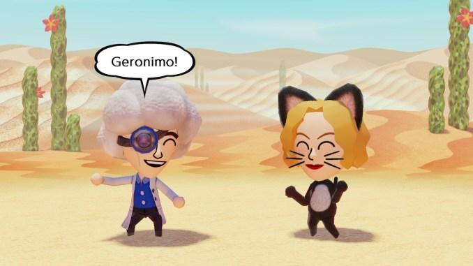 """Das Bild zeigt zwei Klassen namens Wissenschaftler und Katze in """"Miitopia""""."""