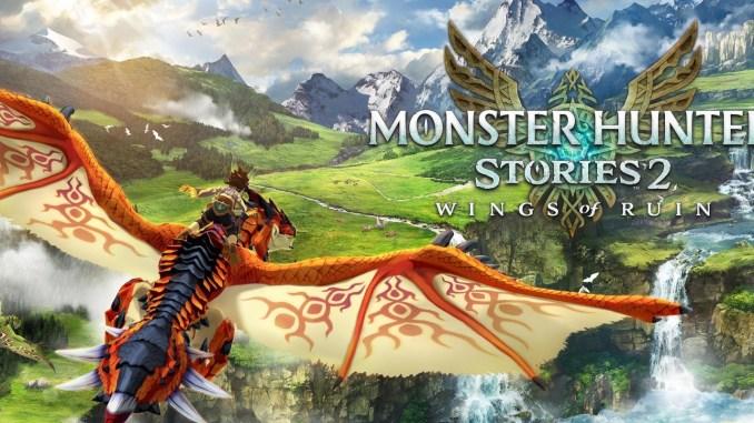 """Das Bild zeigt das Logo von """"Monster Hunter Stories 2: Wings of Ruin""""."""