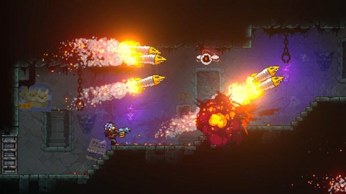 """Das Bild zeigt eine Szene aus dem Spiel """"Neon Abyss""""."""