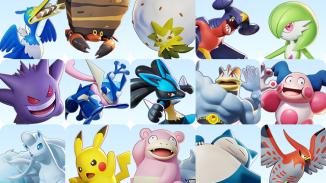 """Das Bild zeigt die Pokémon aus dem Spiel """"Pokémon Unite""""."""