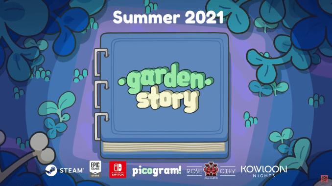 """Das Bild zeigt das Logo des Spieles """"Garden Story""""."""