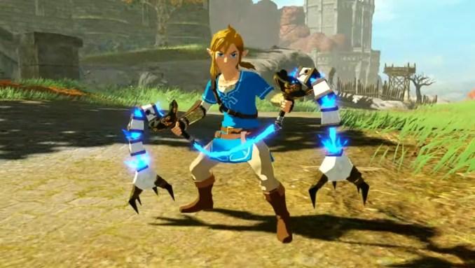 """Das Bild zeigt eine neue Waffenart in """"Hyrule Warriors: Zeit der Verheerung""""."""