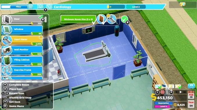 """Das Bild zeigt eine Szene aus dem Spiel """"Two Point Hospital""""."""