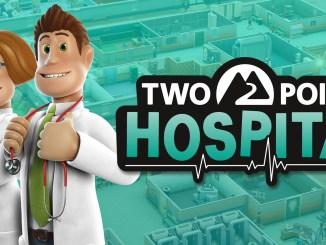 """Das Bild zeigt das Logo von """"Two Point Hospital""""."""