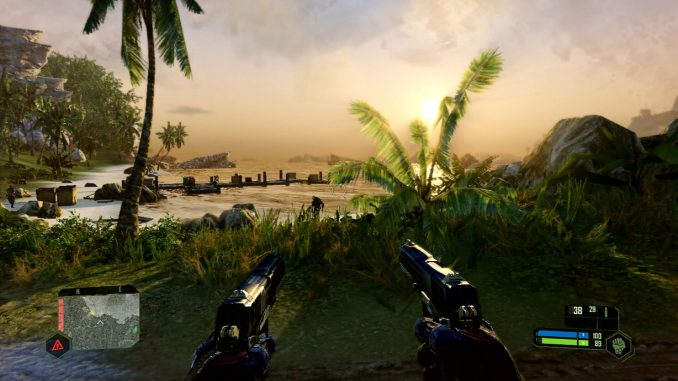 """Das Bild zeigt Die Insel aus """"Crysis Remastered"""""""