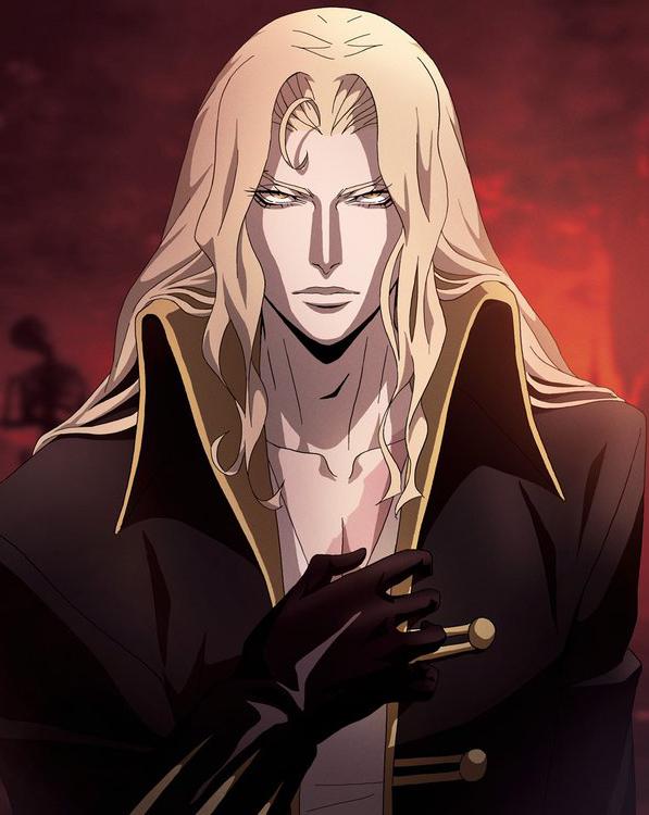 Das Bild zeigt Alucard aus der Anime Serie.