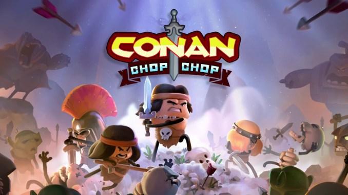 """Das Bild zeigt das Logo von """"Conan Chop Chop""""."""