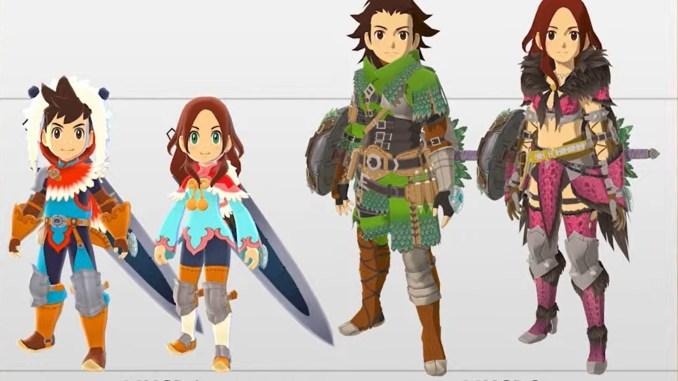"""Das Bild zeigt einen Vergleich zwischen """"Monster Hunter Stories 2: Wings of Ruin"""" und """"Monster Hunter Stories""""."""