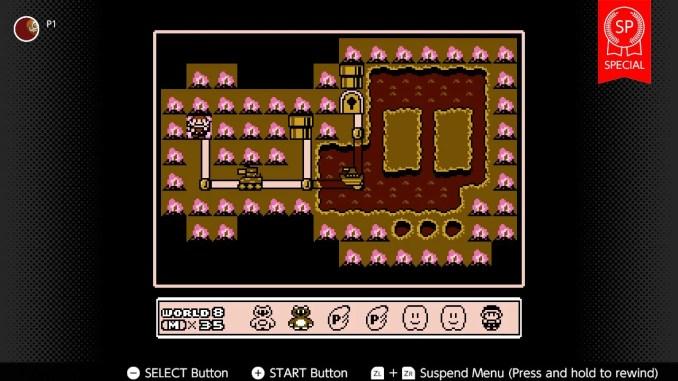 Das Bild zeigt einen Screen aus Super Mario Bros 3 in der Spezialversion