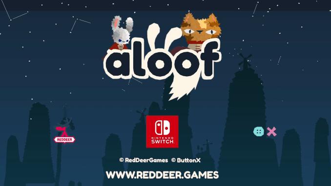 """Das Bild zeigt das Logo des Spieles """"Aloof""""."""