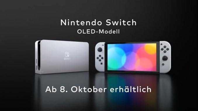 Das Bild zeigt das neue Nintendo Switch OLED-Modell.