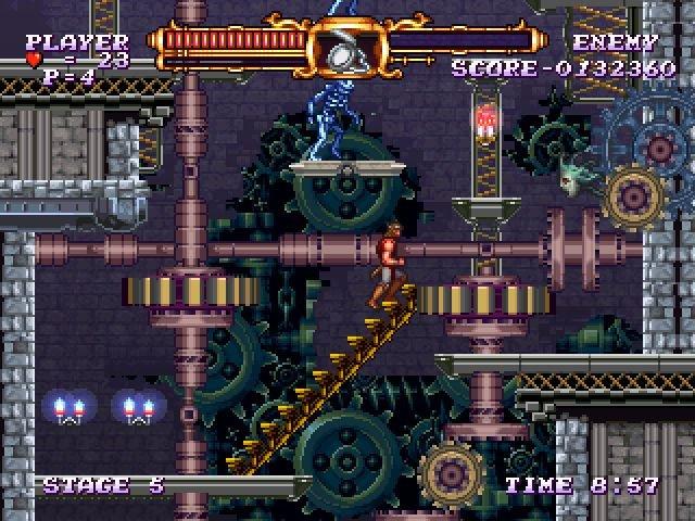 Das Bild zeigt einen Ingame-Screen von Castltevania: The Adventure ReBirth