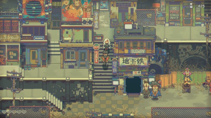 Auf dem Bild sieht man das Gameplay aus dem Spiel Eastward.