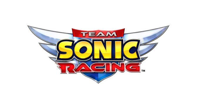 Auf dem Bild sieht man das Logo des Spiels Team Sonic Racing