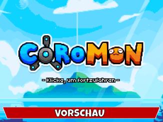 """Das Bild zeigt das Logo von """"Coromon"""" gemeinsam mit dem Vorschau-Banner."""