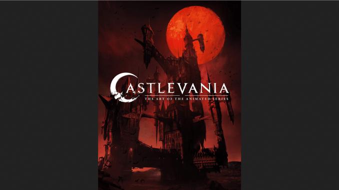 "DAs Bild zeigt das Cover des Kunstbuches ""Castlevania: The Art of the Animated Series""."