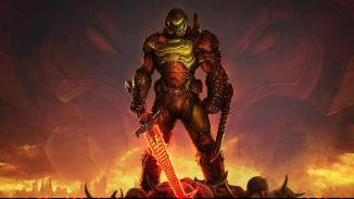 """Das Bild zeigt eine Szene aus dem Spiel """"DOOM Eternal""""."""