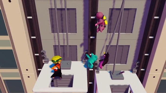 """Das Bild zeigt eine Szene aus dem Spiel """"Gang Beasts""""."""