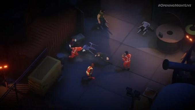 """Das Bild zeigt einen Kampf in """"Midnight Fight Express""""."""