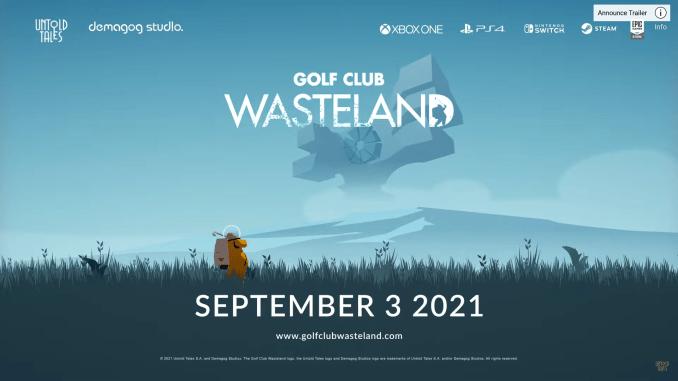 """Das BIld zeigt das Logo von """"Golf Club: Wasteland""""."""