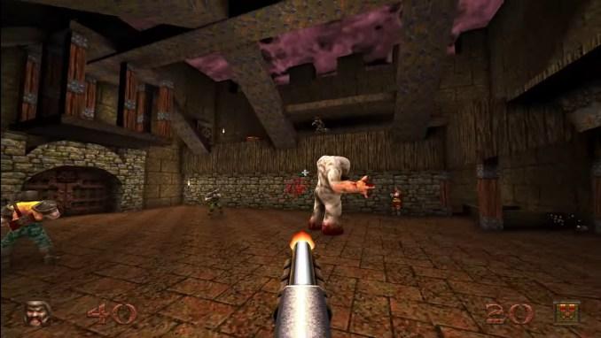 """Das Bild zeigt eine Szene aus """"Quake Remastered""""."""