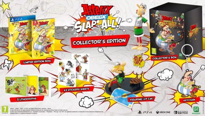"""Das Bild zeigt die Collector's Edition von """"Asterix & Obelix: Slap Them All!""""."""