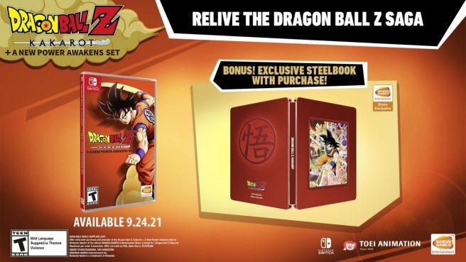 """Das Bild zeigt das exklusive Steelbook von """"Dragon Ball Z: Kakarot + A New Power Awakens""""."""