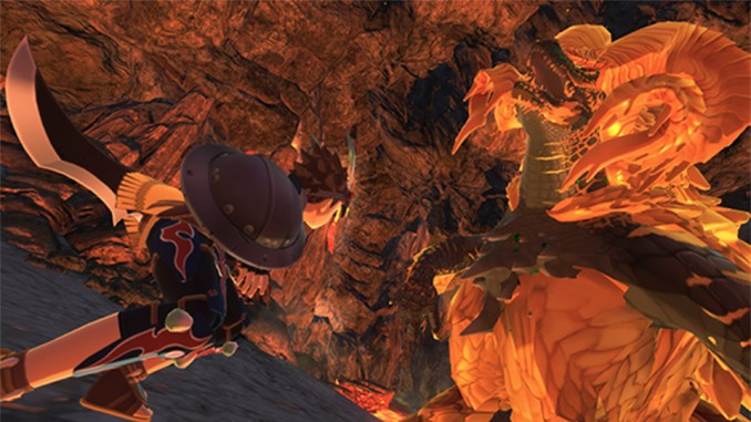 "Das Bild zeigt den Kampf gegen Kulve Taroth in ""Monster Hunter Stories 2""."