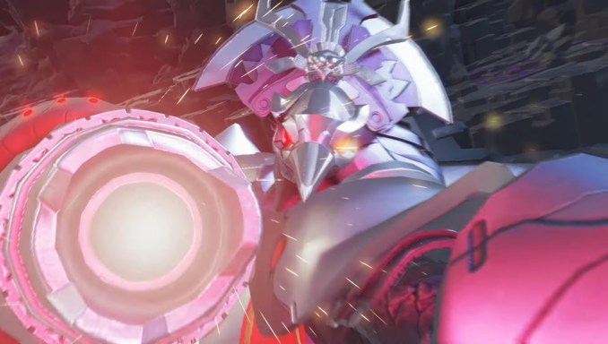 """Das Bild zeigt einen """"Chezo-Krieger"""" aus """"Metroid Dread""""."""