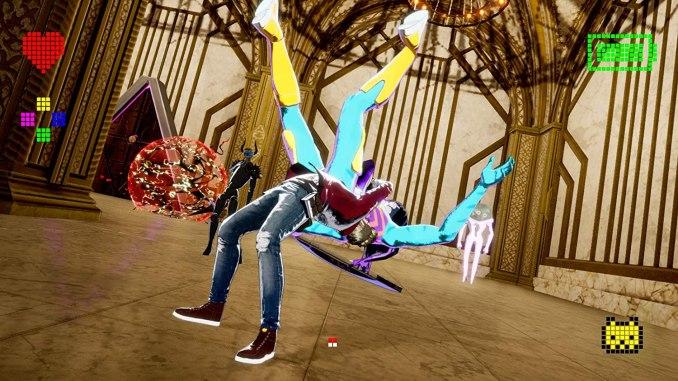"""Das Bild zeigt eine abgefahrene Szene in """"No More Heroes 3"""" von Grasshopper Manufacture."""