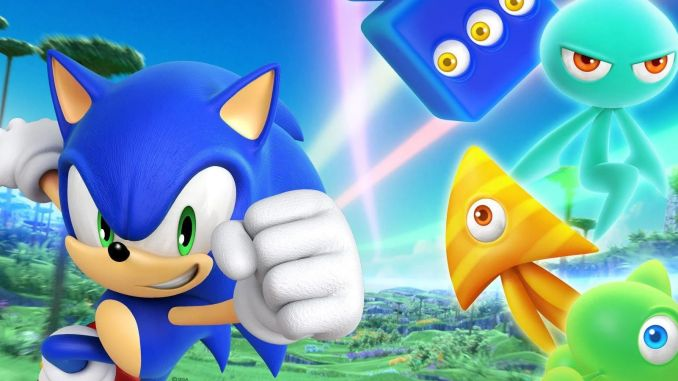 Im Bild sieht man Sonic mit den verschiedenen Wisps aus Sonic Colors Ultimate.