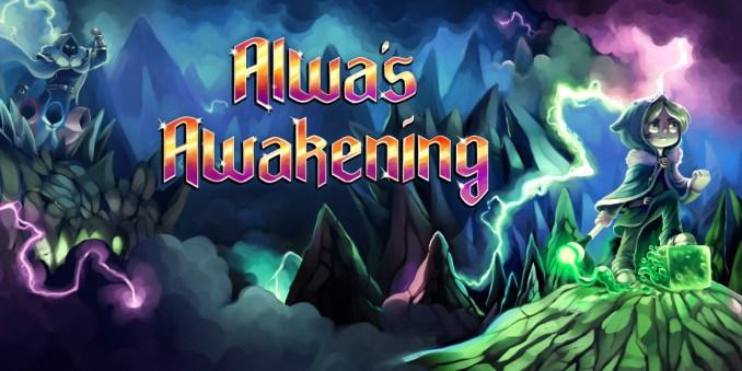 """Das Bild zeigt das Logo von """"Alwa's Awakening""""."""