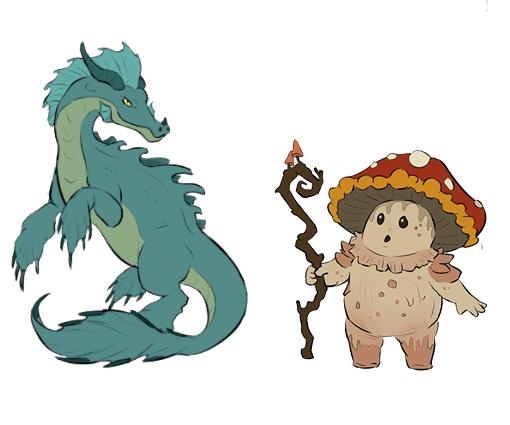 """Das Bild zeigt einige Monster aus dem kostenfreien DLC von """"Monster Sanctuary""""."""