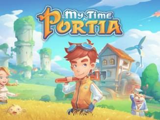 """Das Bild zeigt das Logo von """"My Time at Portia""""."""