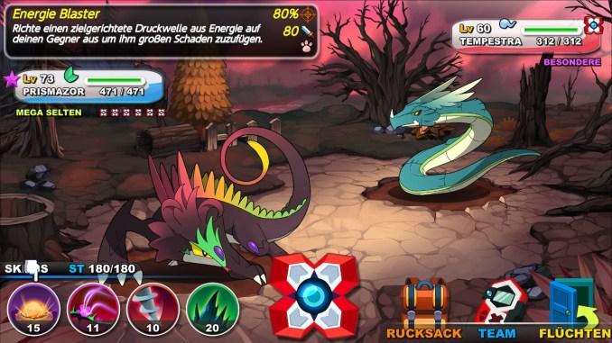 """Das Bild zeigt eine Szene aus dem Spiel """"Nexomon""""."""
