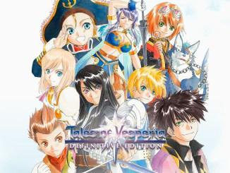 """Das Bild zeigt das Logo von """"Tales of Vesperia Definitive Edition""""."""