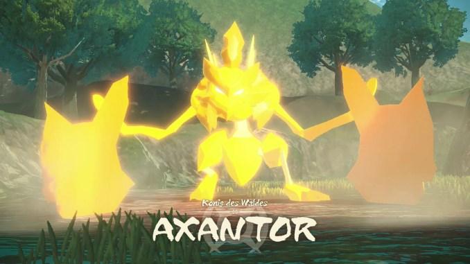 """Das Bild zeigt ein in Rage geratenes Axanator in """"Pokémon Legenden: Arceus""""."""