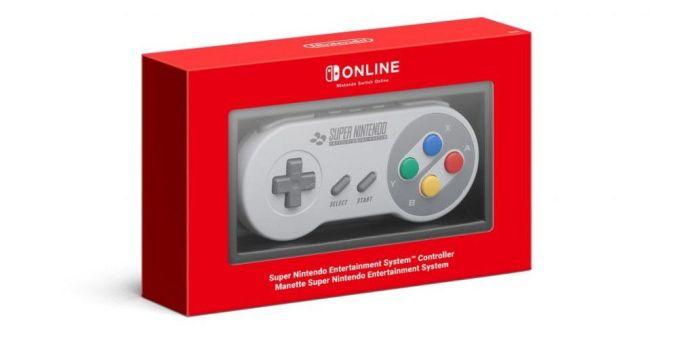 Das Bild zeigt den Spielecontroller für die SNES-Titel auf der Nintendo Switch.
