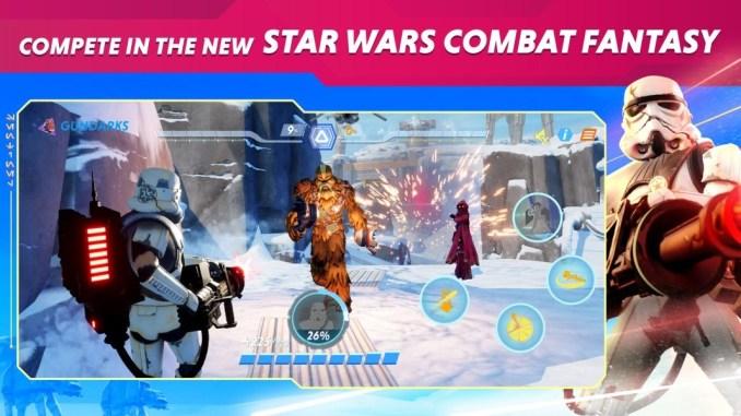 """Das Bild zeigt ein geleaktes Bild von """"Star Wars Hunters""""."""