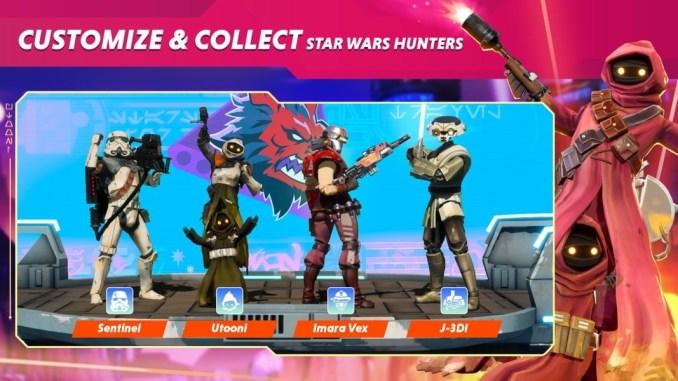 """Das Bild zeigt Customization in """"Star Wars Hunters""""."""